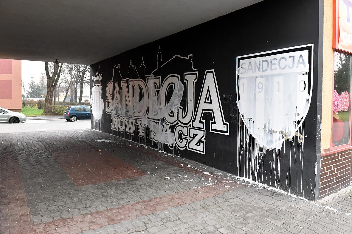 Zniszczyli Mural Sandecji w Pekinie