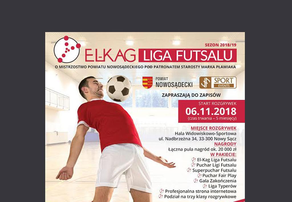 Rozpoczęły się zapisy do El-Kag Liga Futsalu